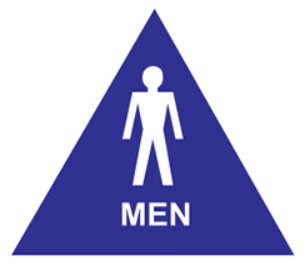 Accessible Men's Room -Door Sign