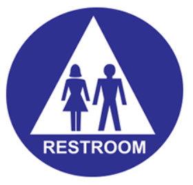 Accessible Unisex Restroom - Door Sign