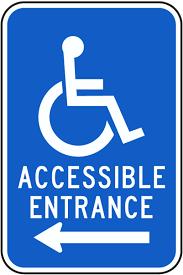 Accessible Entrance - Left Arrow