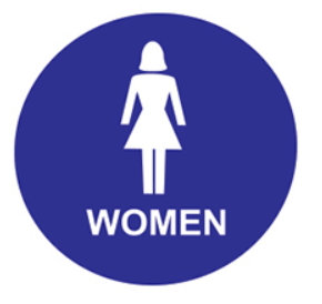 Accessible Women's Restroom - Door Sign