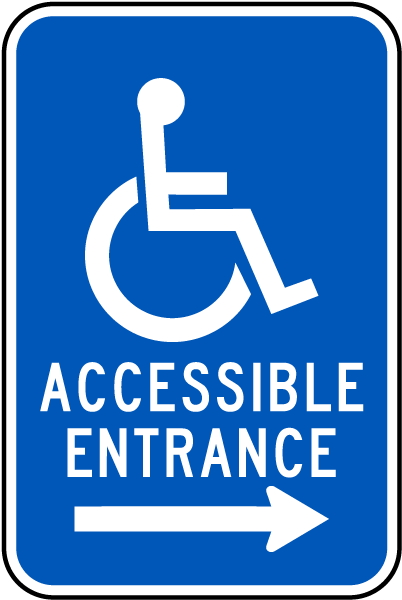 Accessible Entrance - Right Arrow