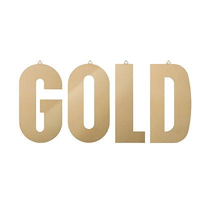 Mot décoratif GOLD