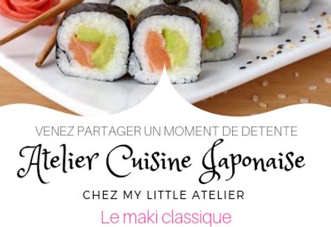 Atelier Cuisine Japonaise - Les makis