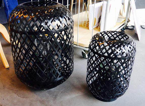 Lanterne en bamboo noir - Grand modèle