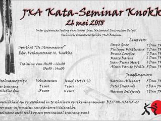 Stage Knokke zaterdag 26 mei 2018