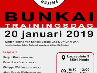 Bunkai trainingsdag te Heule zondag 20/1/2019
