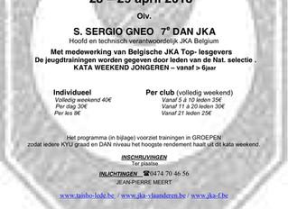 JKA kata weekend 28 en 29 April 2018