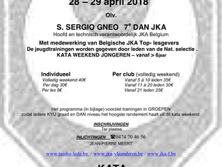 JKA kata weekend 28 en 29 April 2018