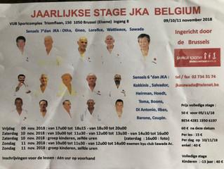 Stage JKA Belgium