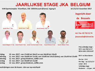 stage JKA Belgium , 10-11 en 12 november