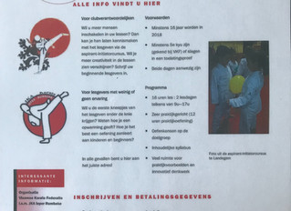 VKF organiseert Aspirant Initiator ,i.s.m JKA Ieper-Rumbeke