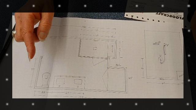 Bathroom Design - Sketch Layout