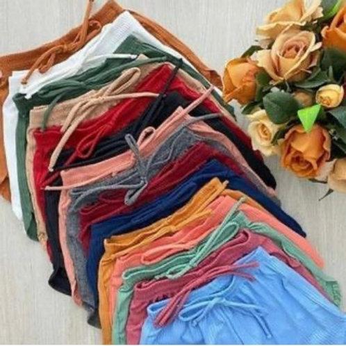 Shorts Básico de Malha Canelado (mínimo 12 pçs)