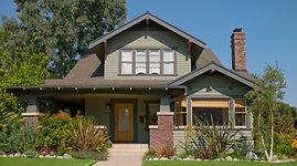 Beautiful Home with Yellow Door