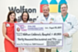 Trinity Love Hoblit Foundation donation presentation to Wolfson Children's Hospital