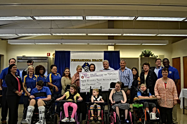 Trinity Love Hoblit Foundation donation presentationt o FBHS