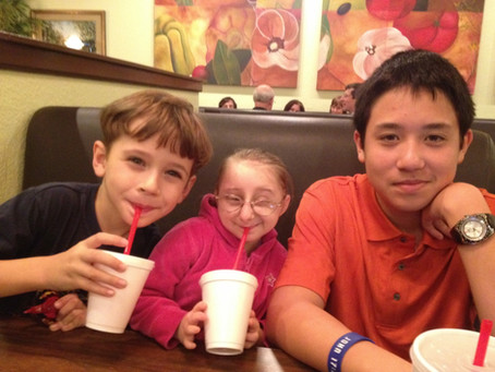 Dinner with her brothers