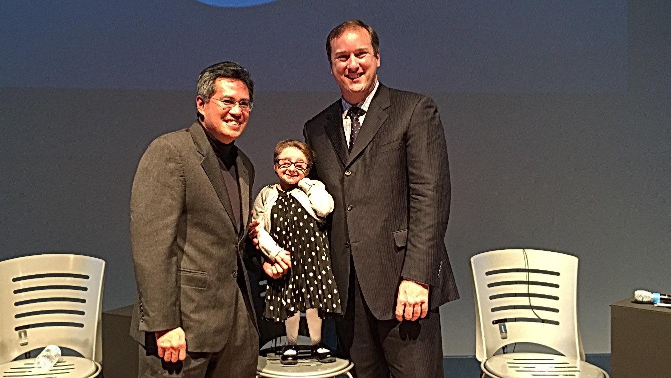 Dr. Hanel, Dr. Aldana and Trinity at Neursocience Event