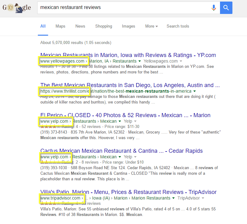online review sites local seo