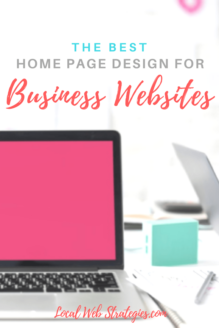 professional home page design for businesses