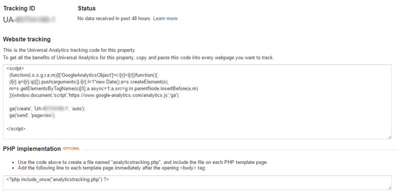 google analytics guide tracking id