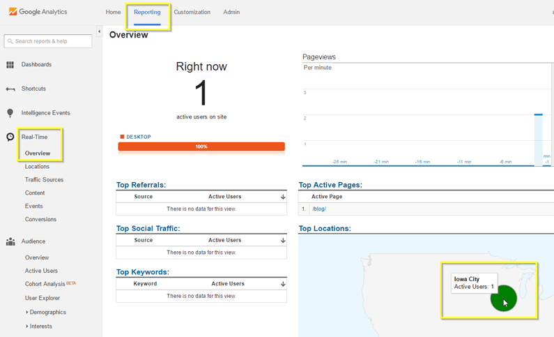google analytics guide real time