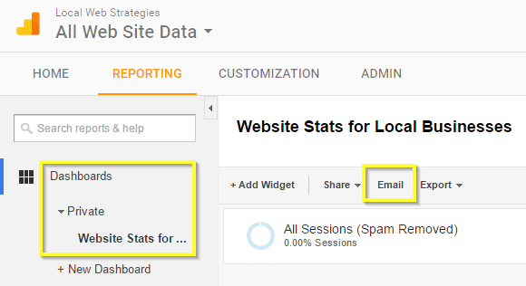 google analytics guide email