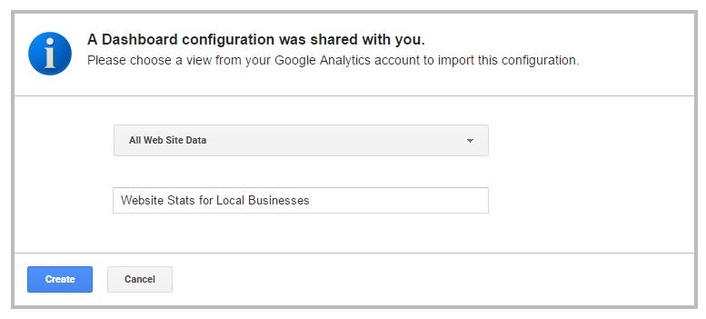 google analytics guide import stats data