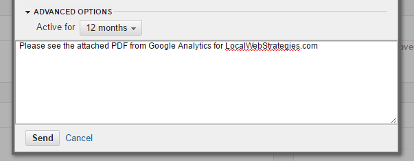 google analytics guide email message