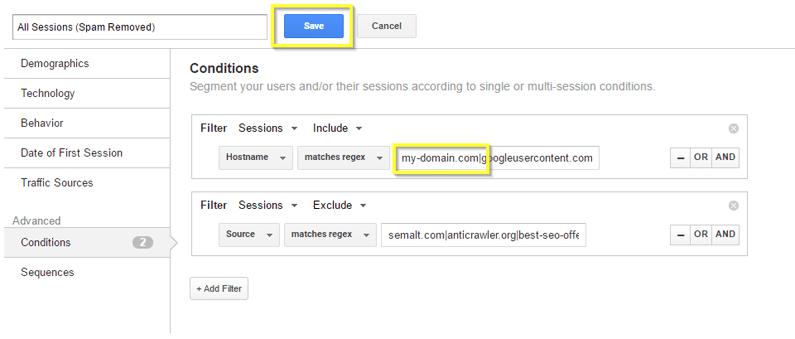 google analytics guide spam domain