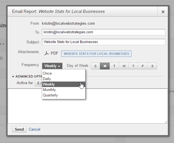 google analytics guide email settings