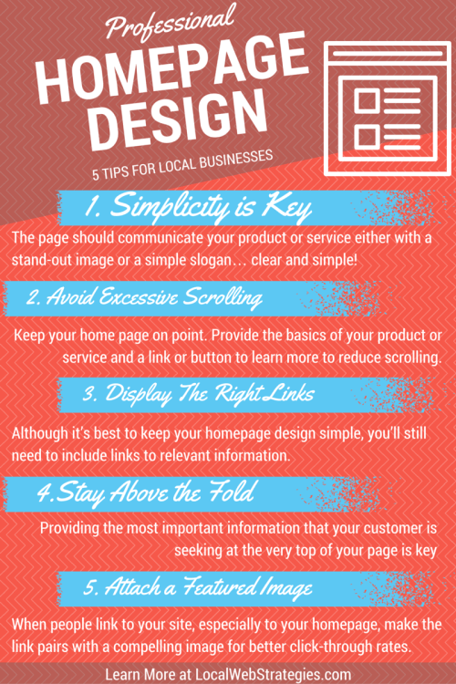 professional homepage design tips