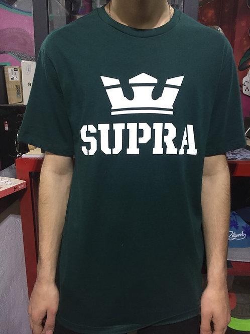 T-SHIRT SUPRA      GR/WH