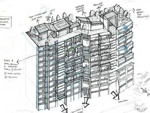 Apartment developmental sketch