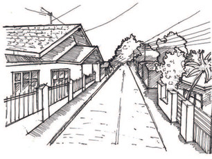 Jombang, Indonesia street sketch