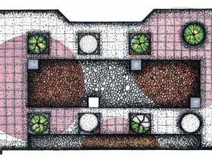 Landscape plan sketch