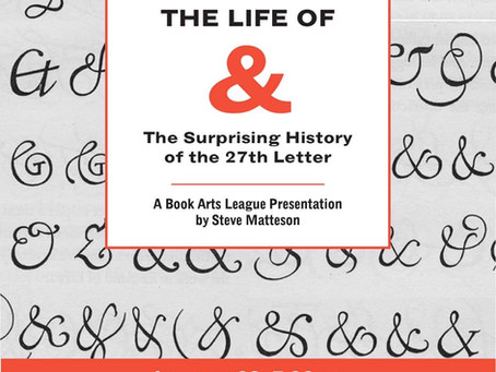 Free Lecture — The Life of & —The Surprising History of the 27th Letter