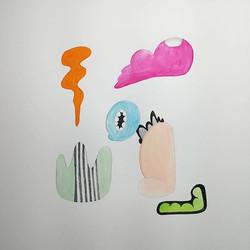#abstract #composition #watercolor #contemporaryart