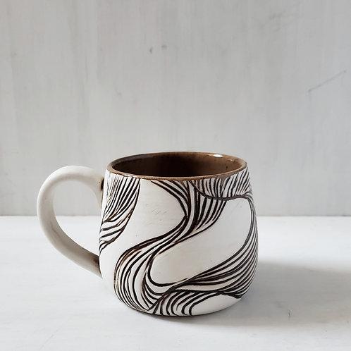 One of a kind Carved Mug
