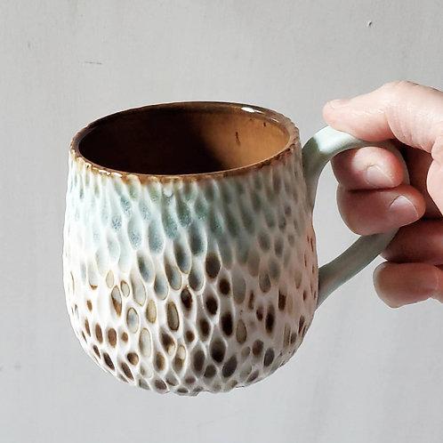 Hand-carved Polypore Mug