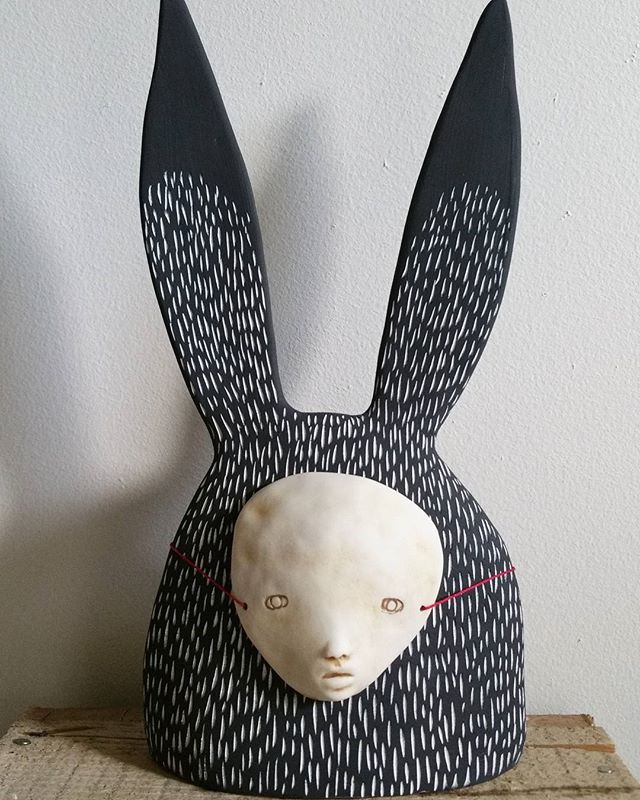 #sculpture #porcelain #rabbit #bunny #mask
