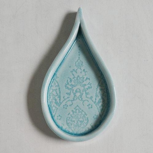 Aqua Teardrop Tray