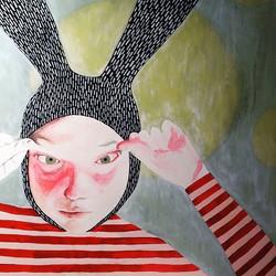 #wip #mixedmedia #painting #rabbit
