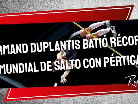 Armand Duplantis batió récord mundial de salto con pértiga