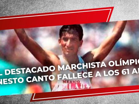 El destacado marchista olímpico Ernesto Canto fallece a los 61 años