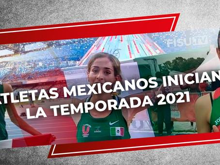 Atletas mexicanos inician la temporada 2021