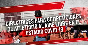 Directrices para Competiciones de Atletismo al aire libre en el Estadio COVID-19