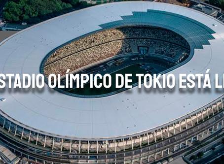 La construcción del nuevo Estadio Olímpico de Tokio está lista para las Olimpiadas 2020