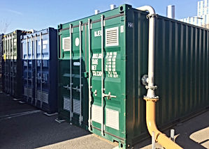 1500 kW temporary boilers for district heating systems