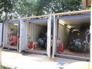 1500 kW Temporary Boiler